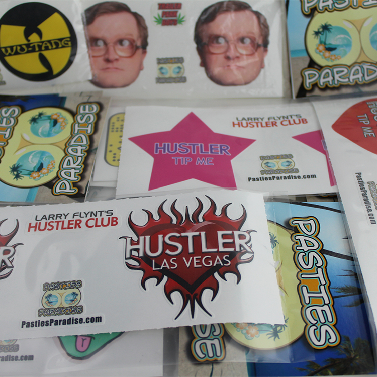 custom hustler club pasties